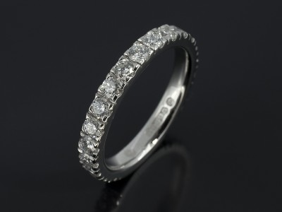 Platinum Diamond Claw Set Eternity Ring 1.27ct Total F Colour VS Claity Min.