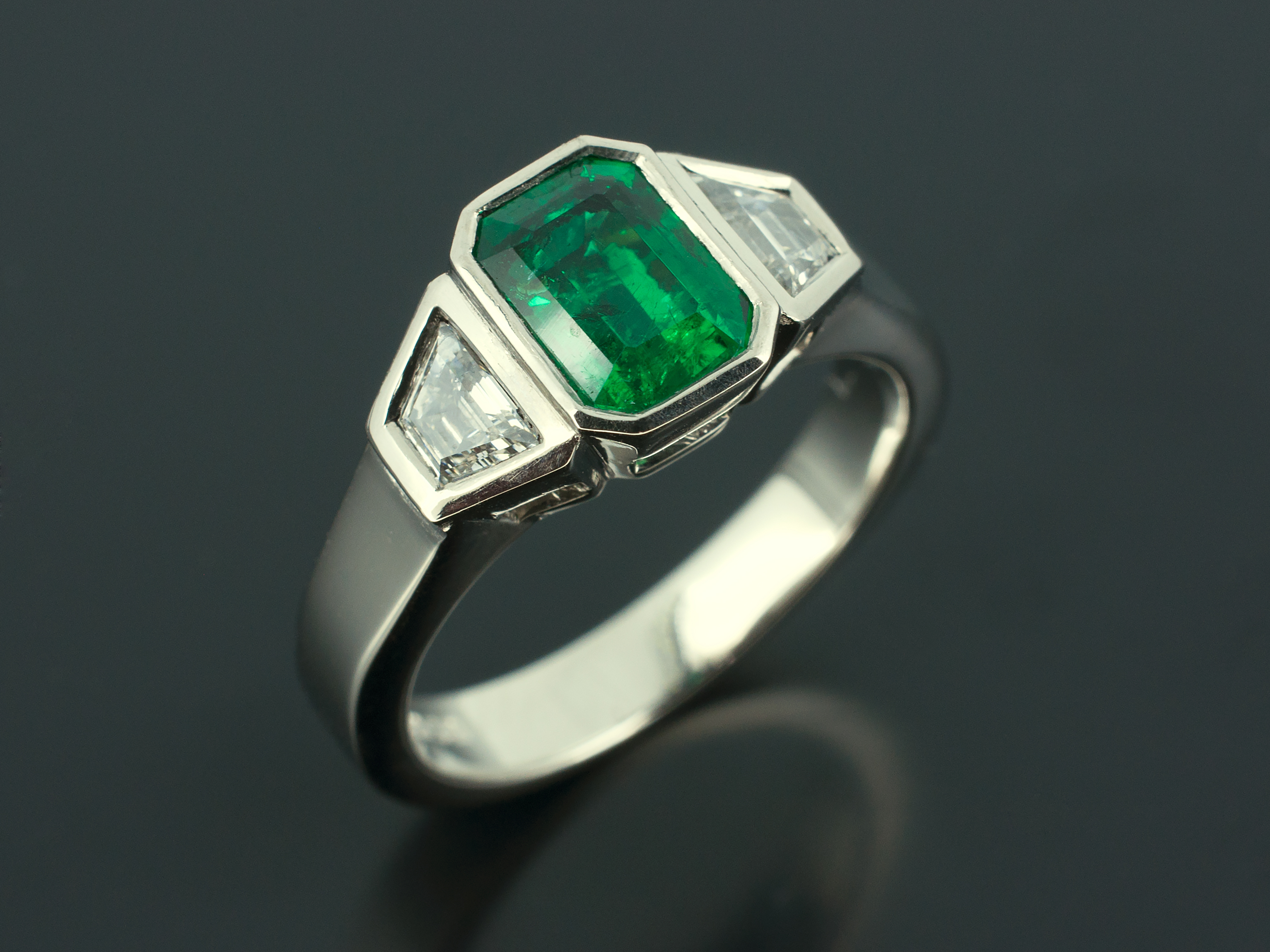 classic wedding rings trilliant a emerald diamond cut with stones ring collections emerlad graff featuring side square