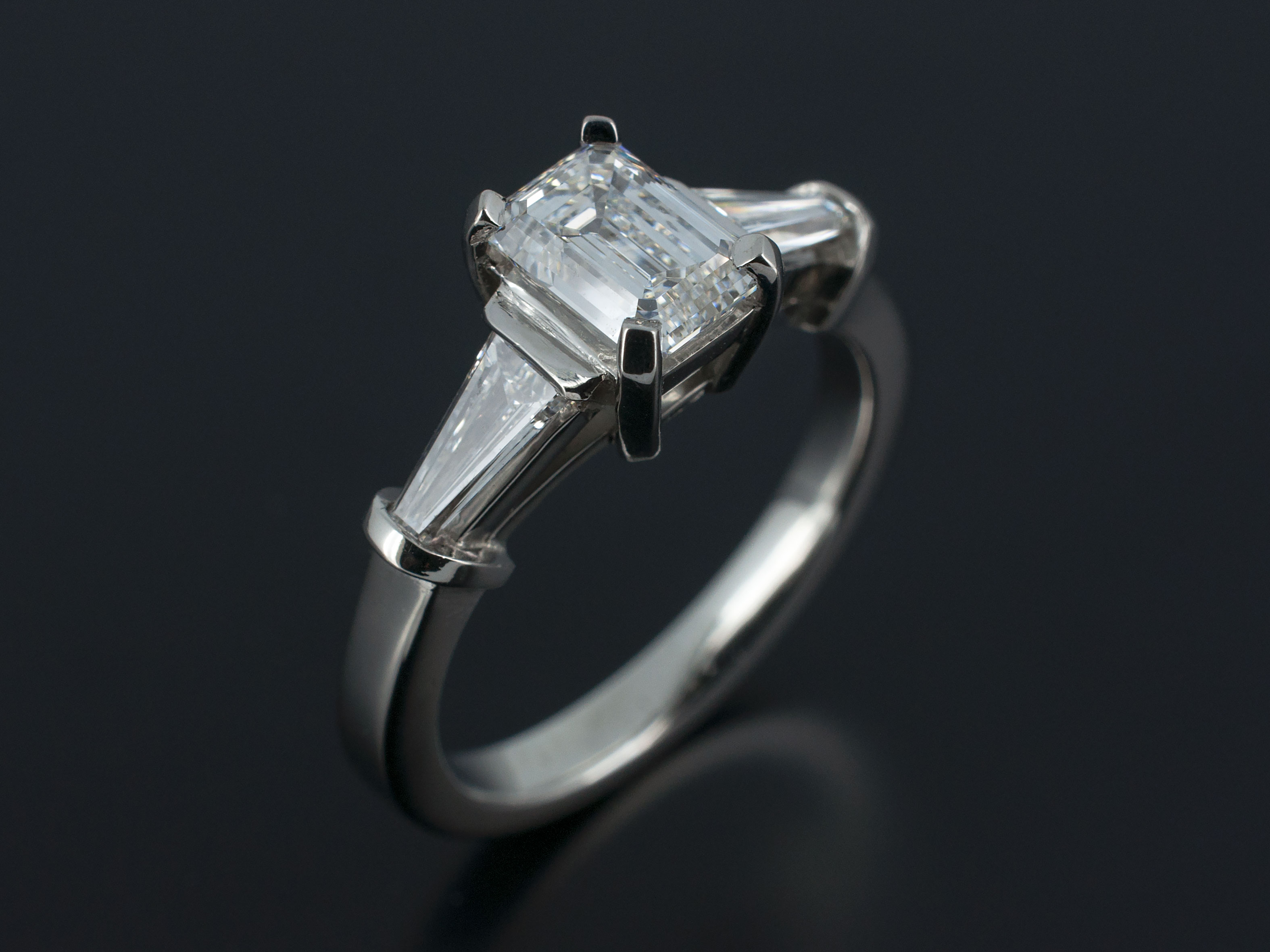 ring band denzel platinum cut brilliant henrich products platinium solitaire round polished diamond
