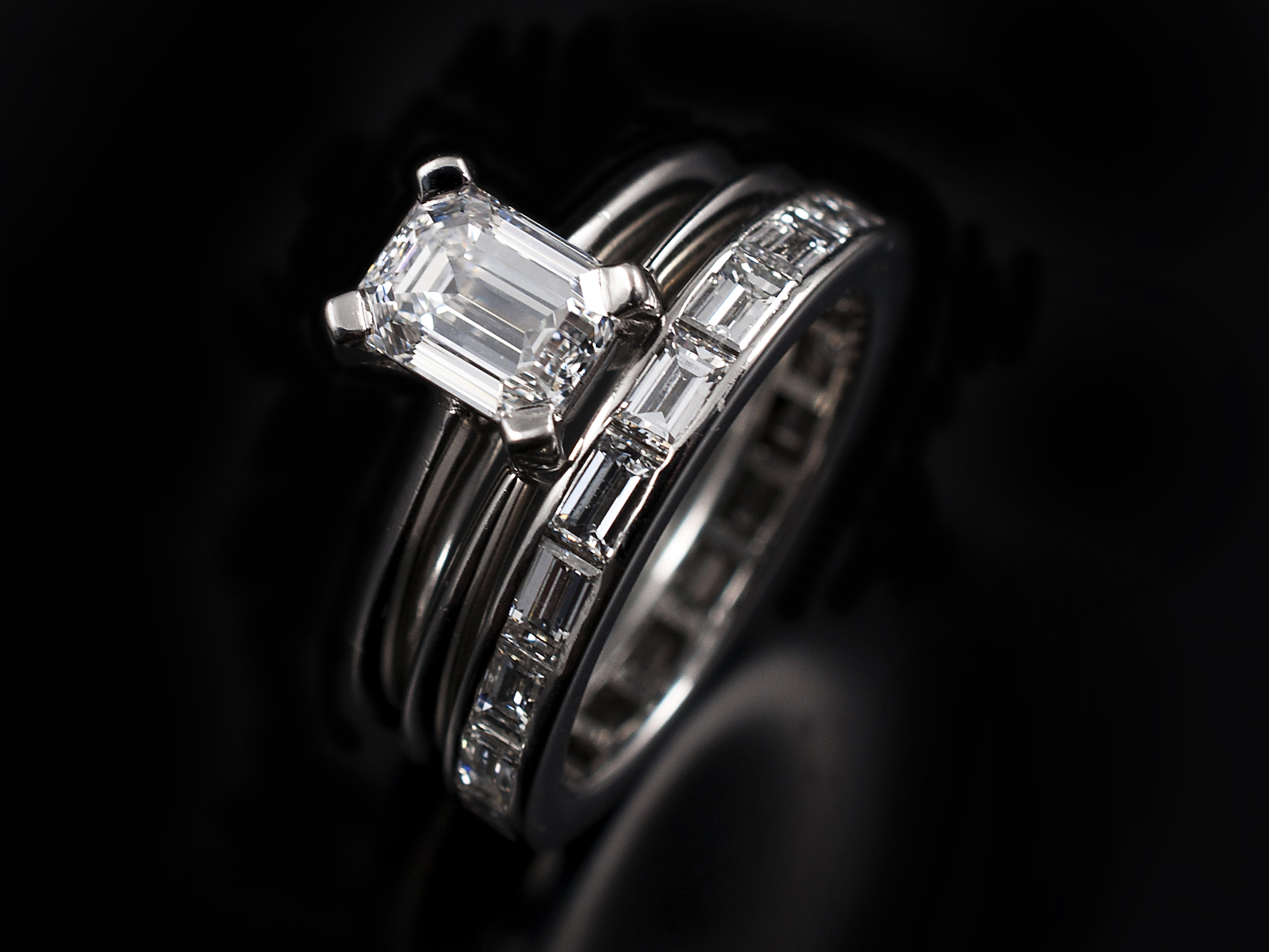 eternity ring baguette wedding home denzel glasgow diamond contemporary henrich platinum orro jewellery rings band bands