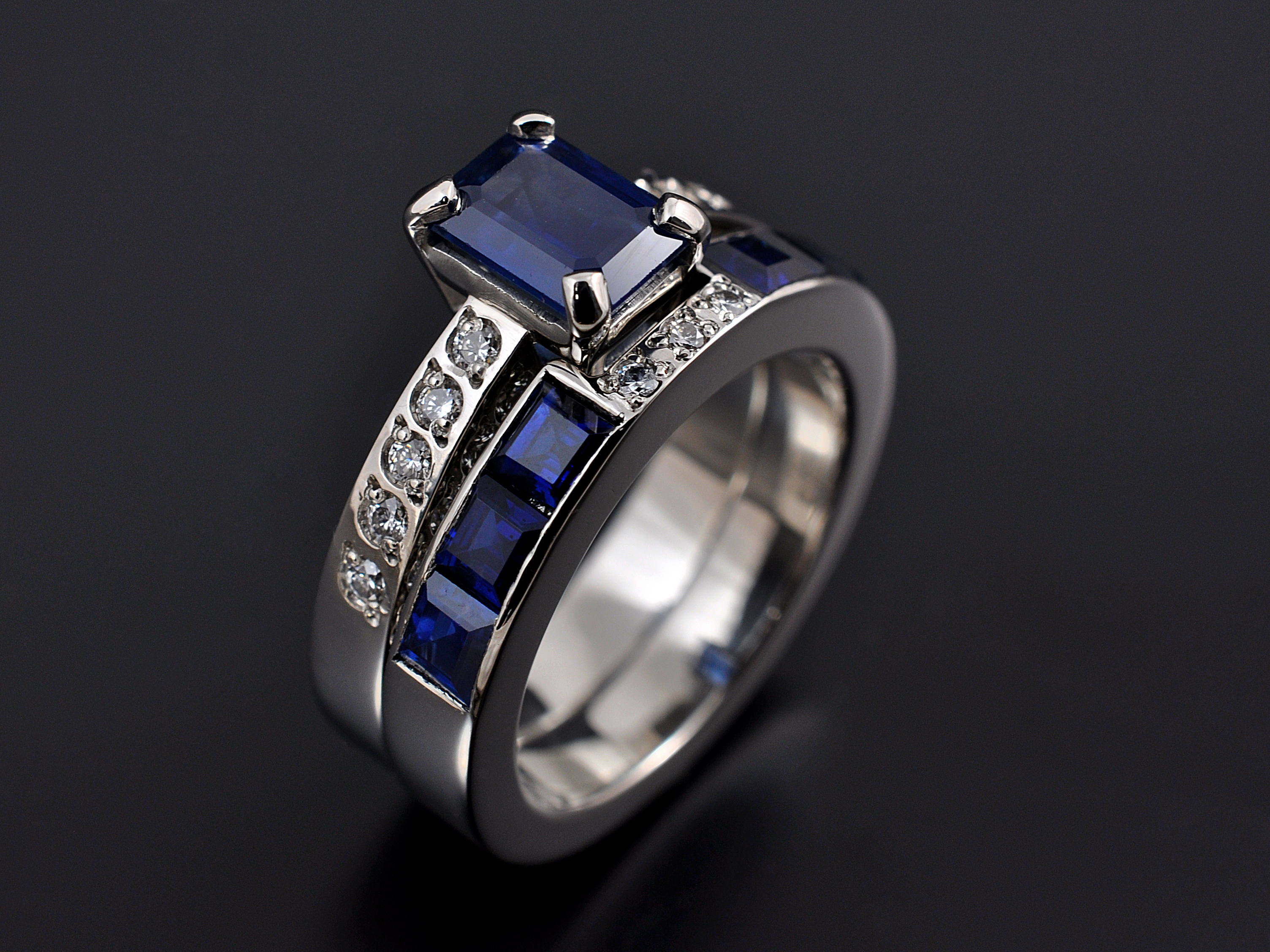 ring cut sapphire square of attachment asscher white engagement important most