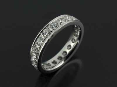 Full Platinum Pavé Set Diamond Eternity Ring 1.47ct Total.