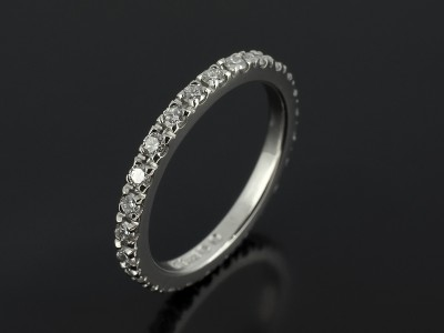 Full Claw Set Platinum Diamond Wedding Ring 0.50ct Total F Colour VS Clarity Min.