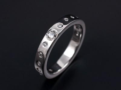 Round Brilliant Secret Set Wedding Ring 0.35ct Total