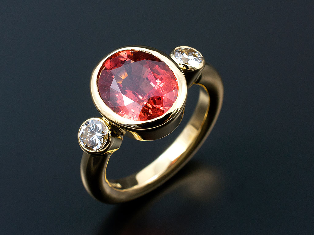 Coloured Precious Stone Rings In Sapphire Emerald Ruby