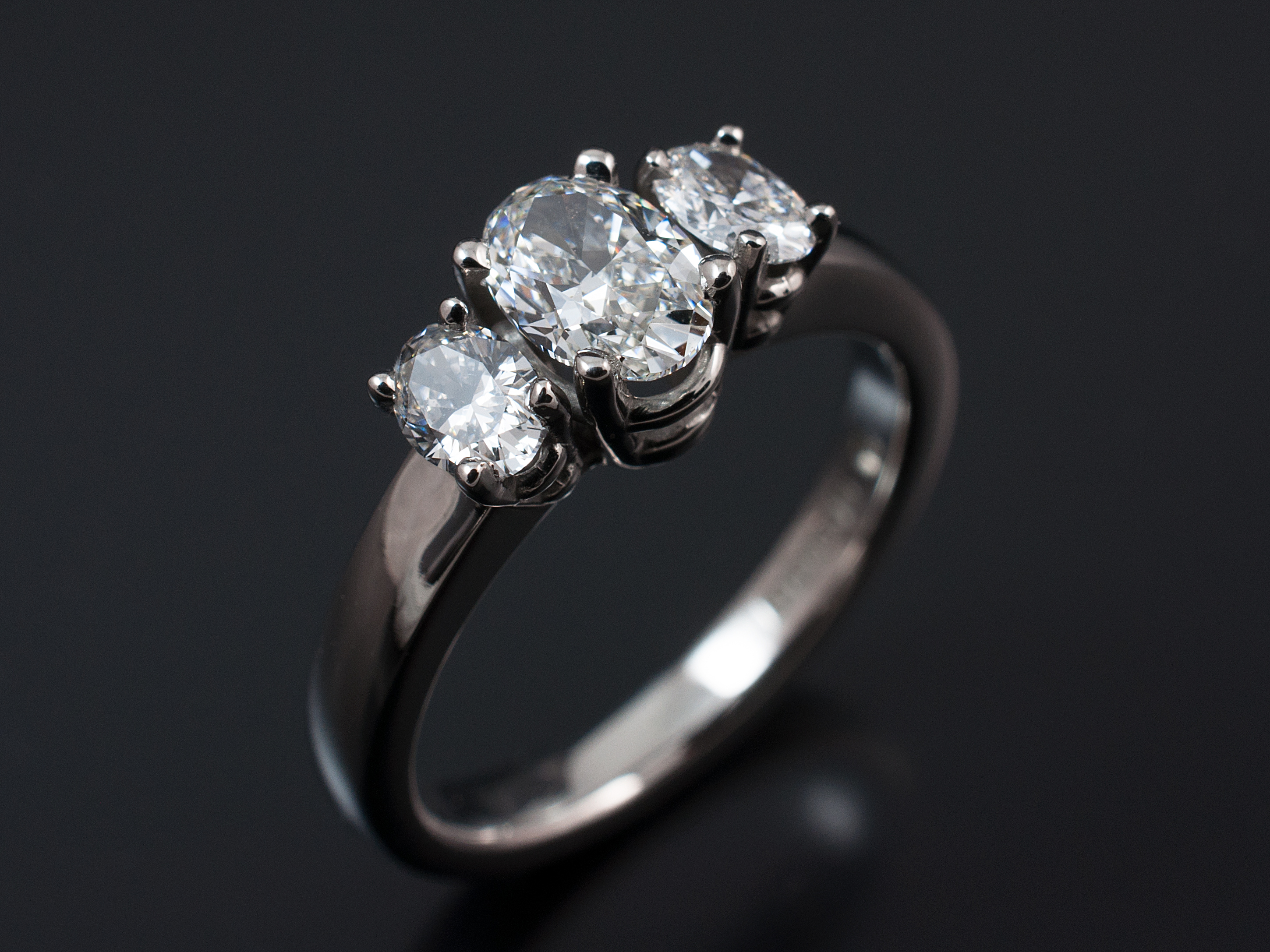 rings uneek with silhouette shank gold stone engagement double pave three in white diamond ring oval