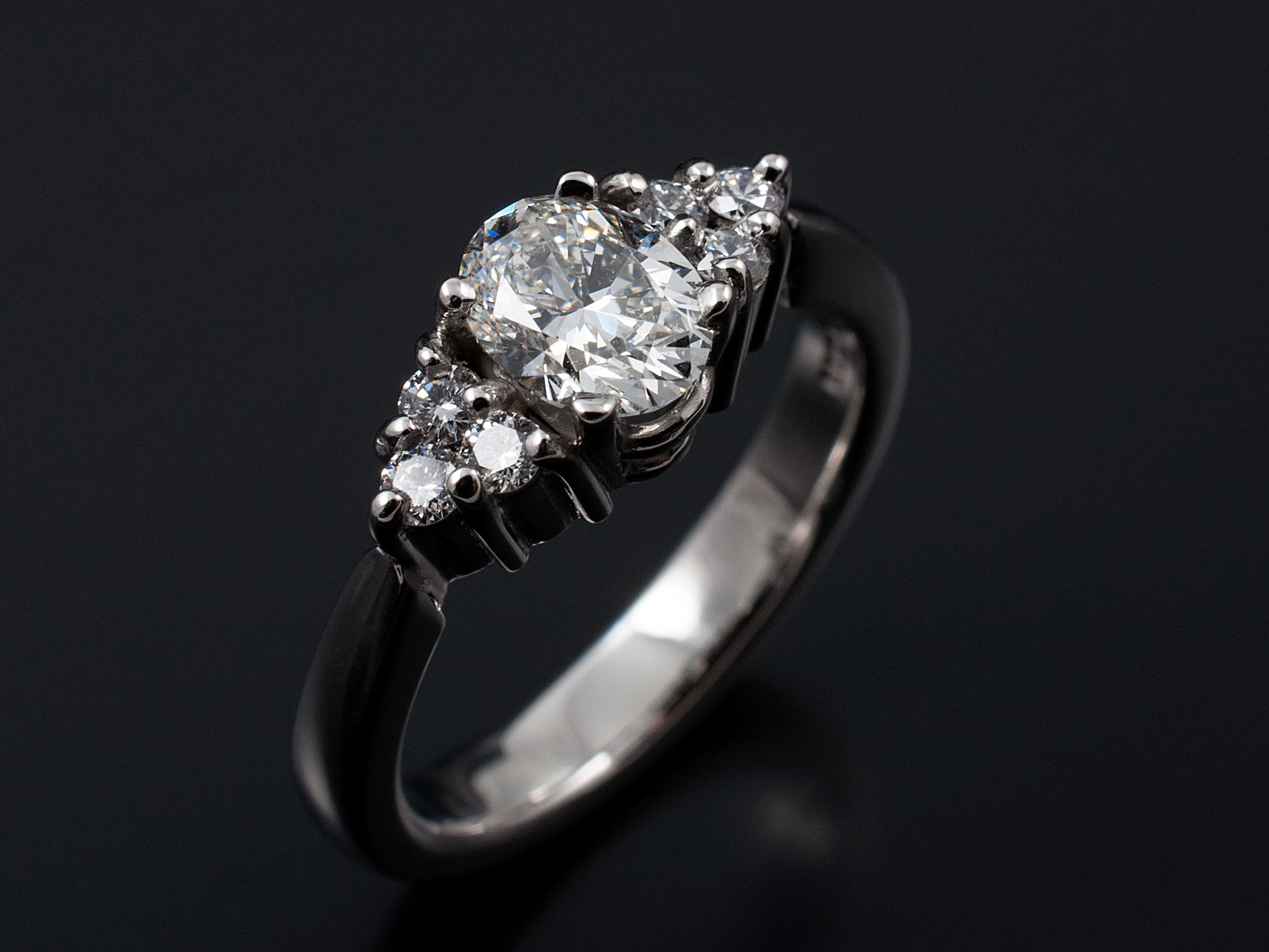 from vintage diamond cut style setting in ring oval pin