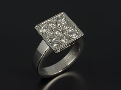 Palladium Cluster Pavé Set Diamond Eternity / Dress Ring 1.08ct Total F Colour SI Clarity Min.