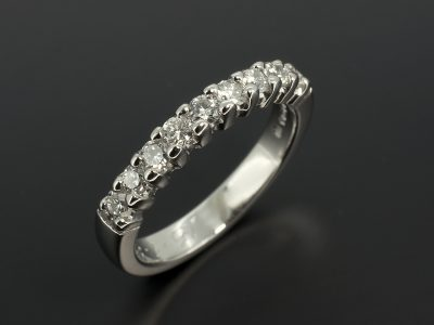 Eternity Ring With 36 x 0.09ct Round Brilliant Cut Diamonds F VS Handmade in Platinum