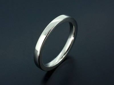 Platinum Easy Fit Ladies Wedding Ring