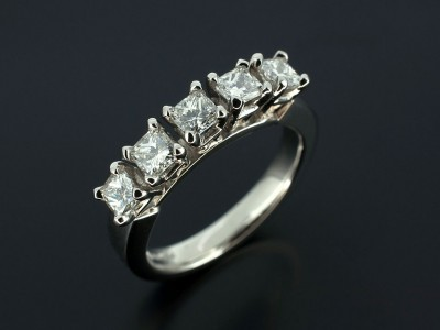 Radiant Cut Diamond Eternity Ring 0.86ct Total F Colour VS Clarity Min.