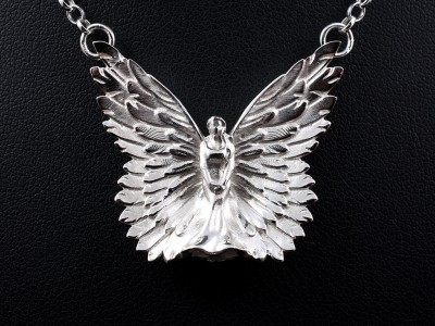 Silver Angel Design Pendant
