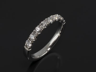 Platinum Claw Set Diamond Wedding Ring.