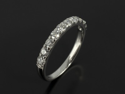 Diamond Claw Set Platinum Wedding Ring.