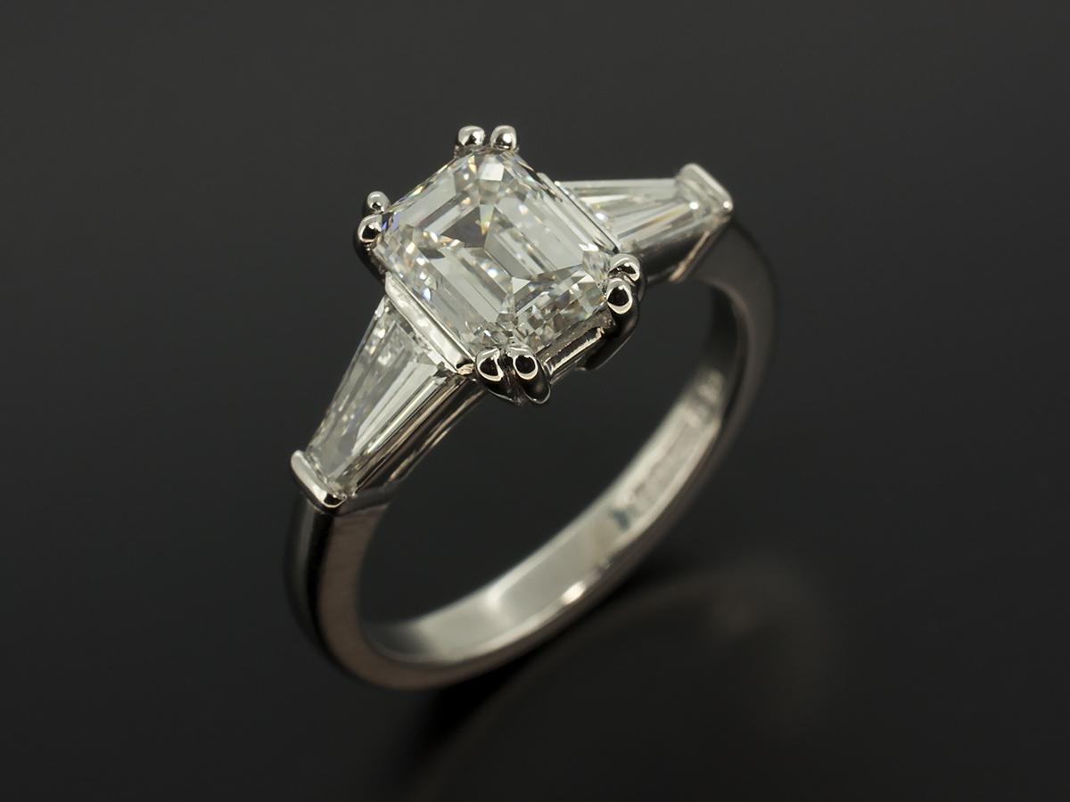 Emerald And Asscher Cut Diamond Engagement Rings Glasgow