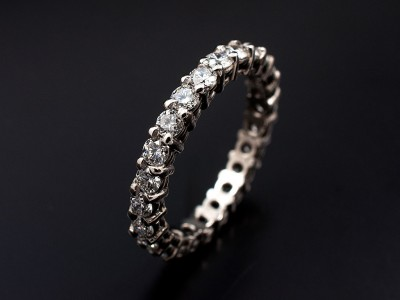 Eternity Wedding Ring with 24 x 0.05ct (1.2ct total) Round Brilliant Diamonds F VS Hand Made in Platinum