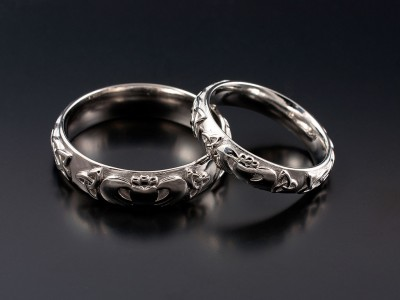Gents and Ladies Matching Claddagh Celtic Wedding Rings