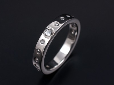 Round Brilliant Secret Set Wedding Ring 0.35ct Total