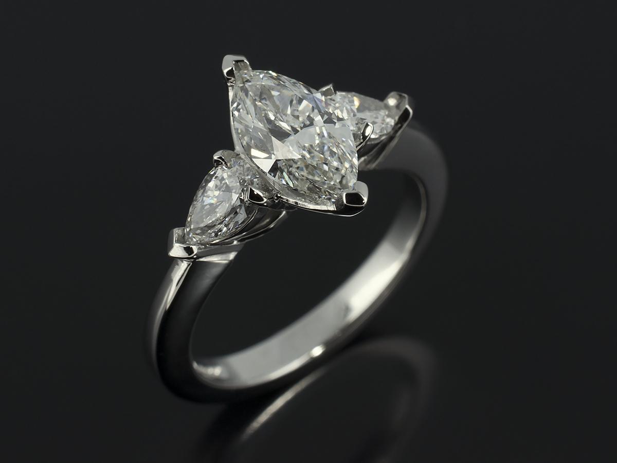 pear cut marquise cut and heart cut diamond engagement