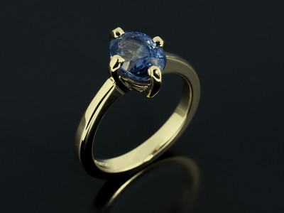 Oval Cut Sapphire 1.68ct in a NSEW Setting in 18kt Yellow Gold.