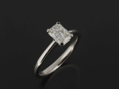 Radient Cut Diamond 0.75ct D Colour, SI1 Clarity, Four Claw Set in Platinum in a Solitaire Design