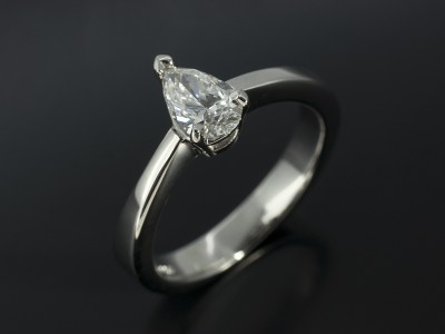 Pear Cut 0.59ct G Colour SI2 Clarity Solitaire Design in 9kt White Gold