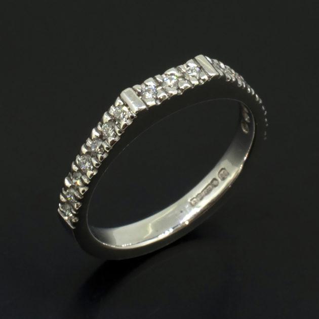 Platinum Claw Set Diamond Dress Ring with Round Brilliant Cut Diamonds 0.26ct total, round brilliant cut diamond ring, platinum ring with claw set diamonds, dress ring with multiple diamonds, hand made diamond and platinum ring