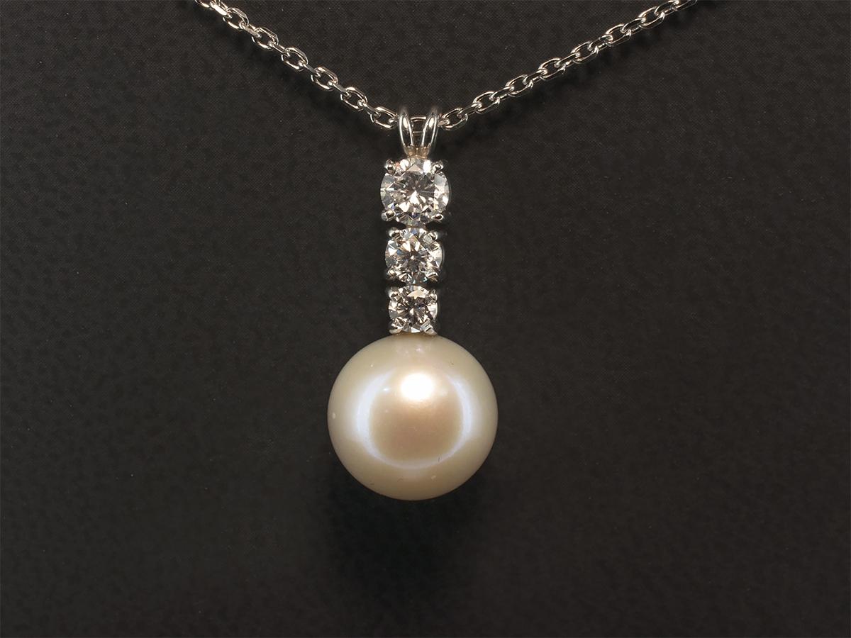 Halsketten & Anhänger Handmade Graduated Coloured Pearl & Ball ...
