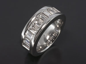 One of our bespoke men's engagement rings.