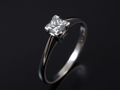 Princess Cut 0.60ct E SI1 in a 4 Claw Platinum Solitaire Design.