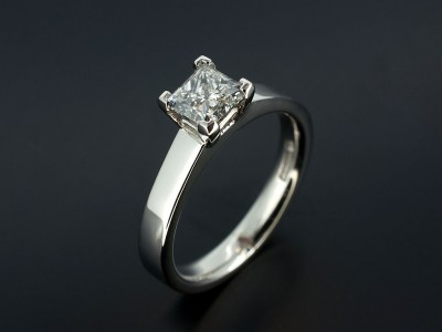 Princess 0.70ct D Colour VVS2 Clarity in a Platinum 4 Claw Setting.