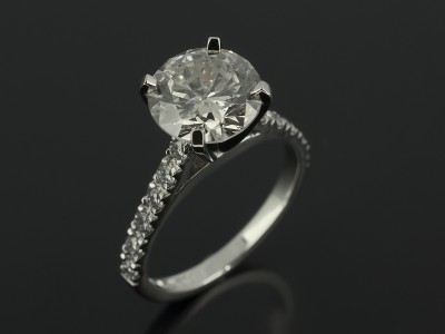 Round Brilliant 2.00ct in a 4 Claw Diamond Set Platinum Design