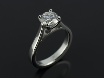 Round Brilliant 0.91ct D Colour SI2 Clarity in a 4 Claw Platinum Setting.
