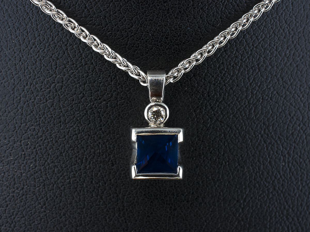 Hand Made Diamond And Precious Stone Pendants Glasgow