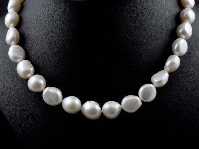Baroque Fresh Water White Pearl Necklace