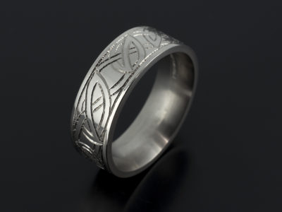 Celtic Palladium Wedding Ring