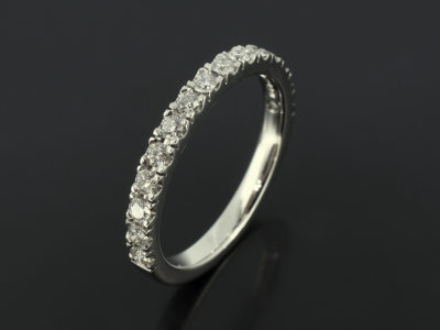 Claw Set Platinum Ring