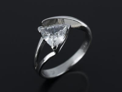 Trilliant Cut Diamond 0.9ct in PlatinumTwist Design