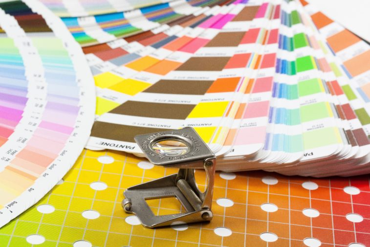 colour swatches stock image