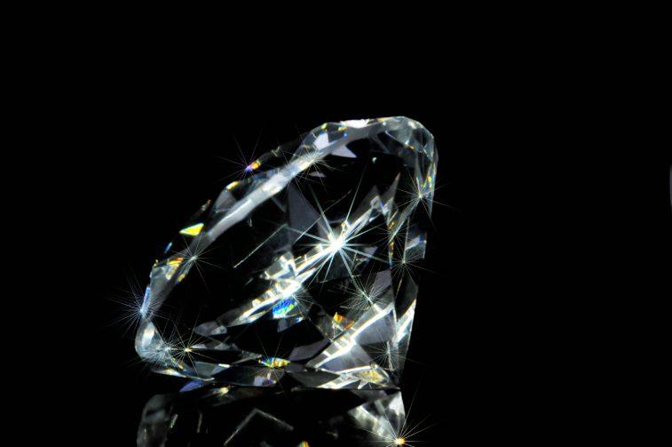 loose diamond stock image