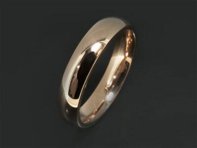 18kt Red Gold 4mm Court Shape Wedding Ring