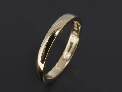 18kt Yellow gold D Shape Wedding Ring