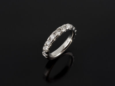 Platinum Claw Set Eternity Ring RBC Diamond 1.04ct (11)