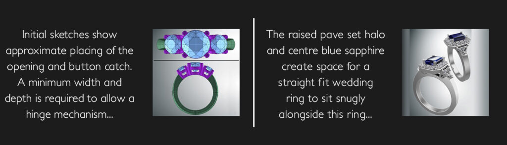 using CAD in bespoke rings and jewellery design at Blair and Sheridan